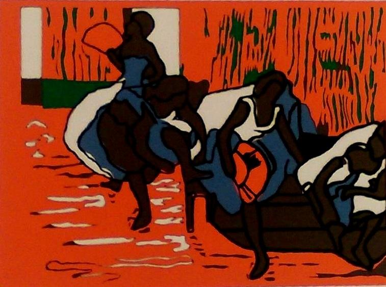 """Paper Shape Cut Out Color    """" Degas In Color""""   18"""" x 24"""""""