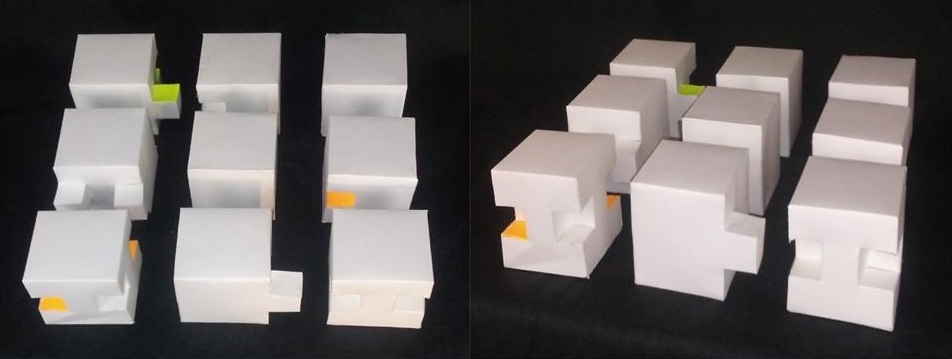 """Cube System   Poster Board   3"""" x 3""""   and  4"""" x 3"""""""