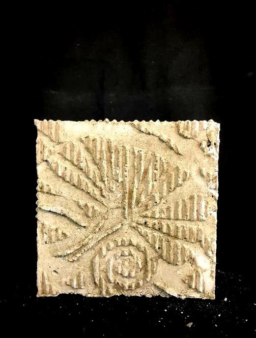 "Project: Concrete Cube Casting    Concrete(relief using cardboard)   6"" x 6"" x 6.5"""
