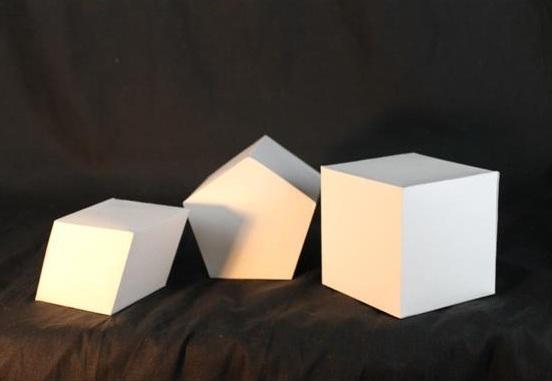 """geometric Shapes   Cardboard   15"""" x 10.5"""" x 4"""""""