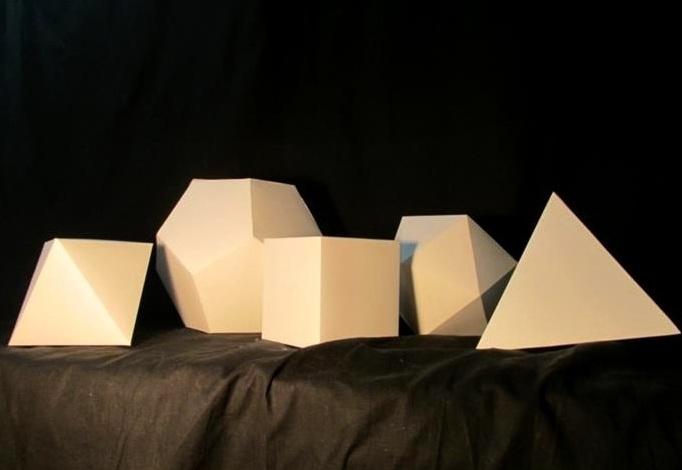 """Geometric Shapes  Dice Set   Bristol   7""""x 7"""" x 7"""", 4"""" x 4"""" x 4"""", 5"""" x 4"""" x 6"""", 10"""" x 7"""" x 10"""". 6"""" x 6"""" x 6"""""""