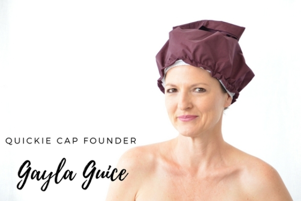 """Hi, I'm Gayla Guice and like many women, I have a very dynamic background! I've worked as an actress, singer/songwriter and graduated (summa cum laude) from Louisiana State University in Environmental Science. I also worked in small business, restaurants and have been """"inventing"""" since 2006. I sought my first patent in 2009 (yes, before Shark Tank first aired!)  My design for the  quickie cap ® began with my desire to find a quicker, easier way to confine and protect my own hair. (Read my story about the birth of quickie cap® below!)  I maintain my passion for conservation and am an avid recycler, composter, and """"re-purposer."""" I like the fact that  quickie cap ® is a durable, re-useable product that not only replaces the disposable shower cap but is also being used for water aerobics, applying makeup, and in the bath or hot tub."""