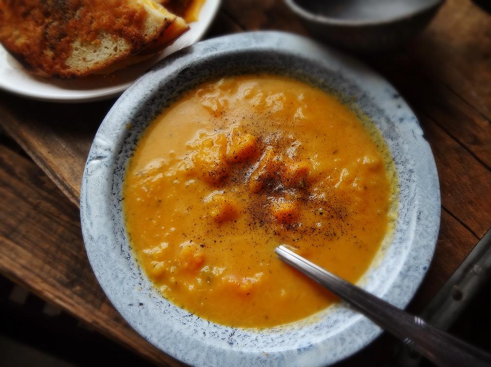 Pumpkin n' Sweet Potato Soup