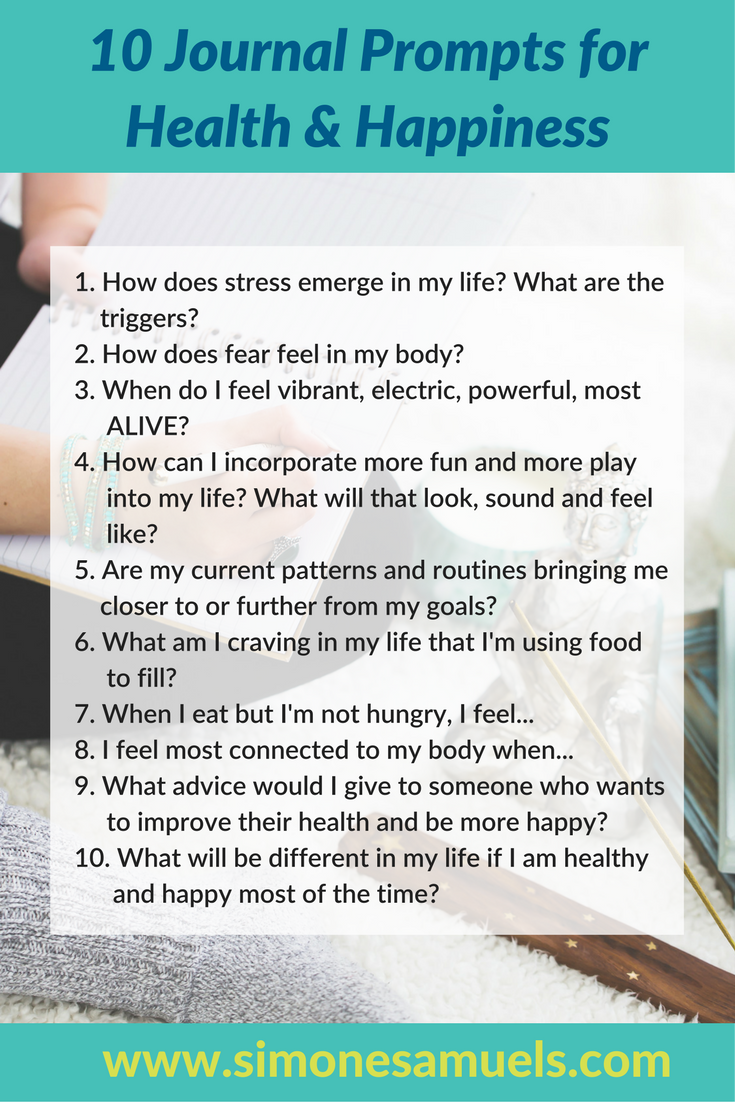 10 Journaling Prompts for Health & Happiness