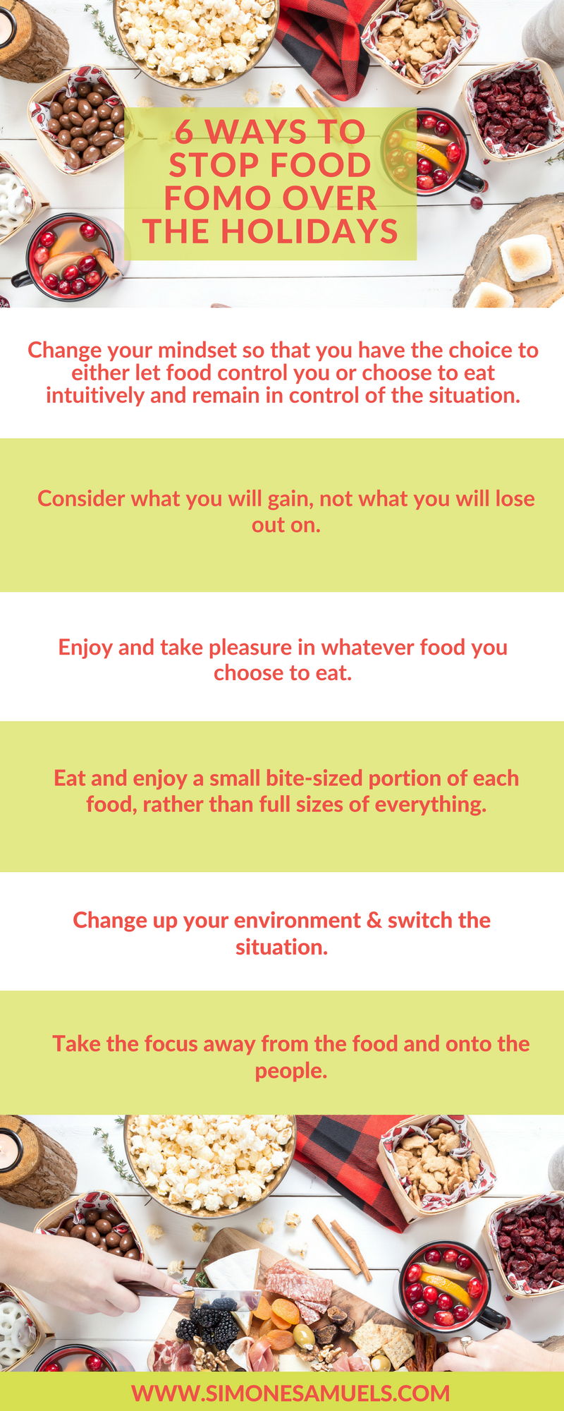 6 Ways to Stop Food FOMO over the Holidays Infographic
