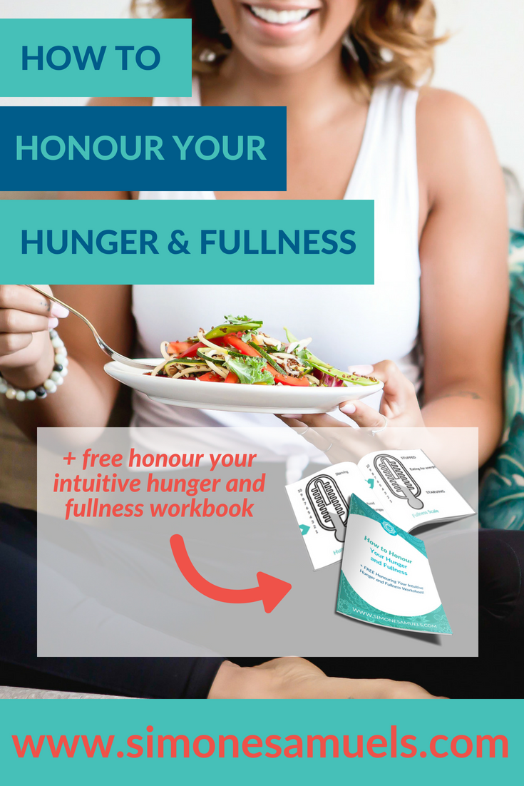 How to honour your hunger and fullness- Simone Samuels- Blog #hunger #fullness #intuitiveeating #healthcoach