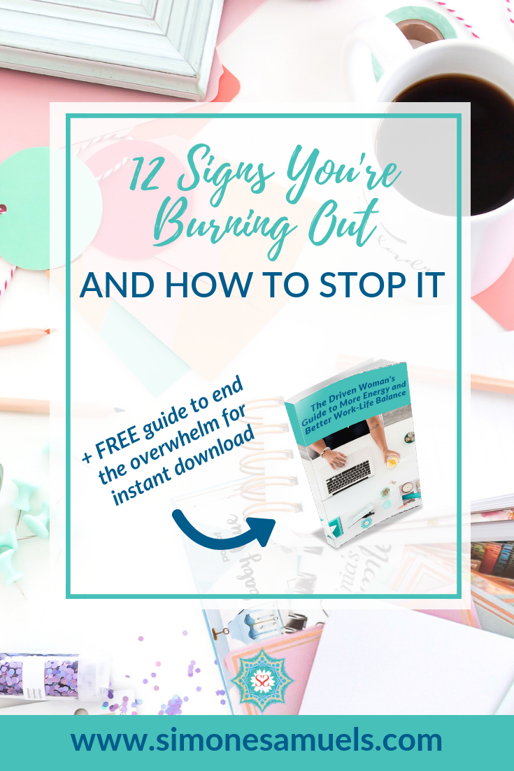 5 Signs You're Burning-Out and How to Stop It #burnout #entrepreneur #blog