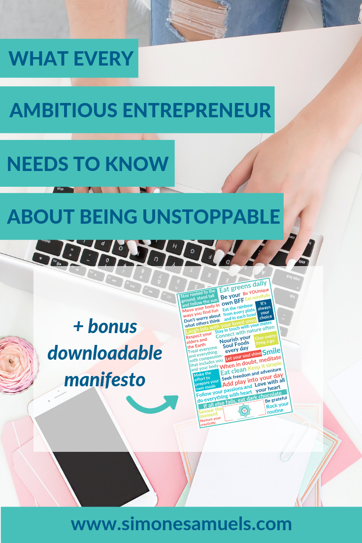 What every ambitious woman needs to know to be unstoppabe- Simone Samuels- Blog