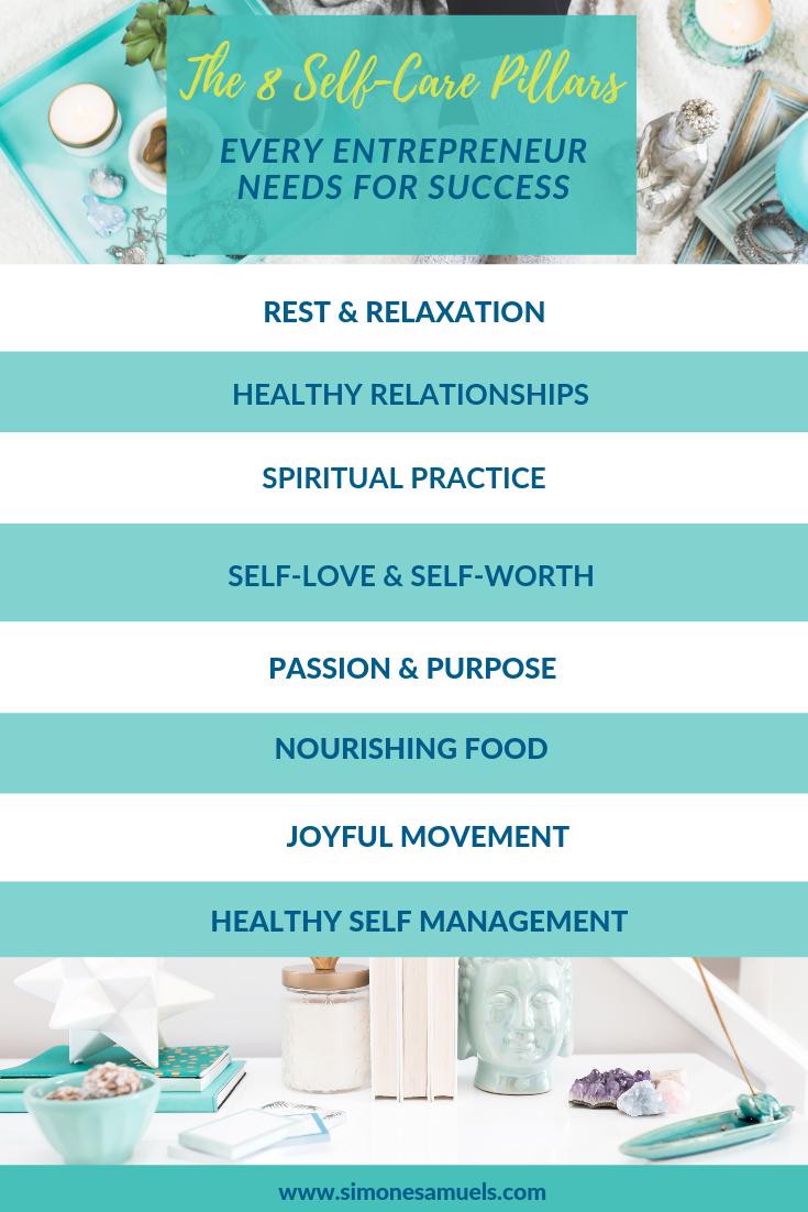 The 8 Self-Care Pillars