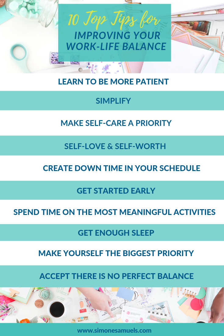 10 Top Tips for Improving Work-Life Balance- Infographic