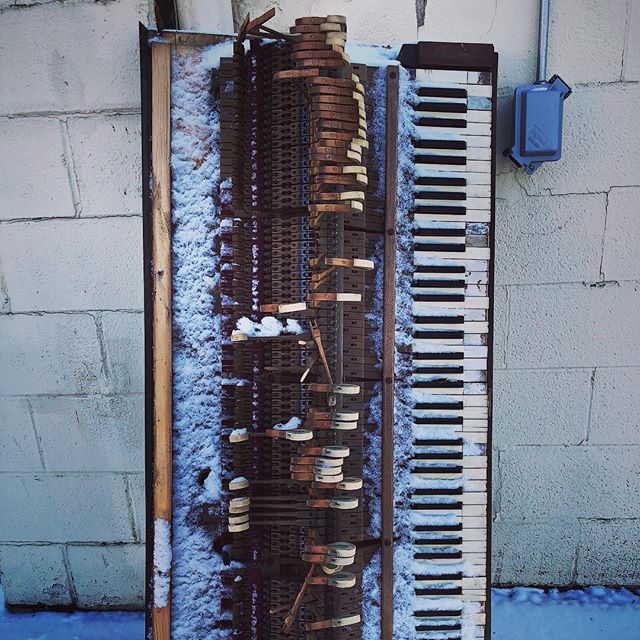 #piano #keys #broken #snow #winter #samewaves