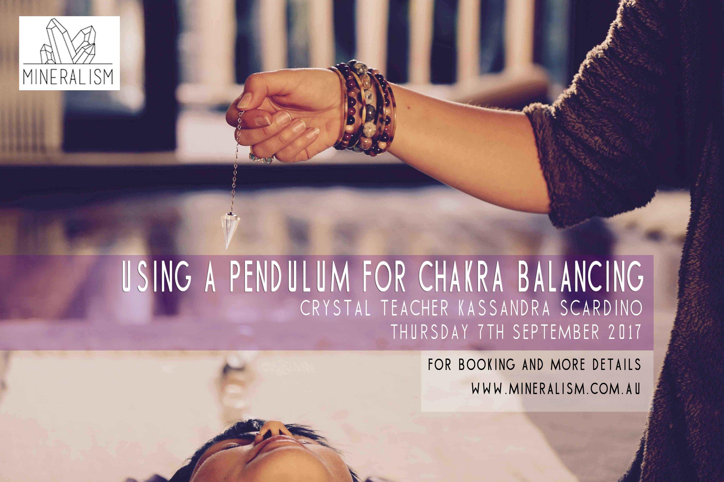 Using a Pendulum For Chakra Balancing at Mineralism, Glebe, Sydney.
