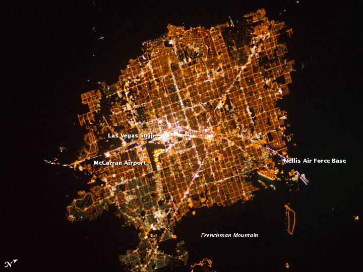 NASA's photograph of Las Vegas, Nevada