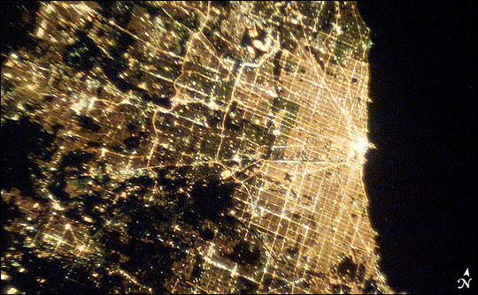NASA's photograph of  T  he Chicago Loop