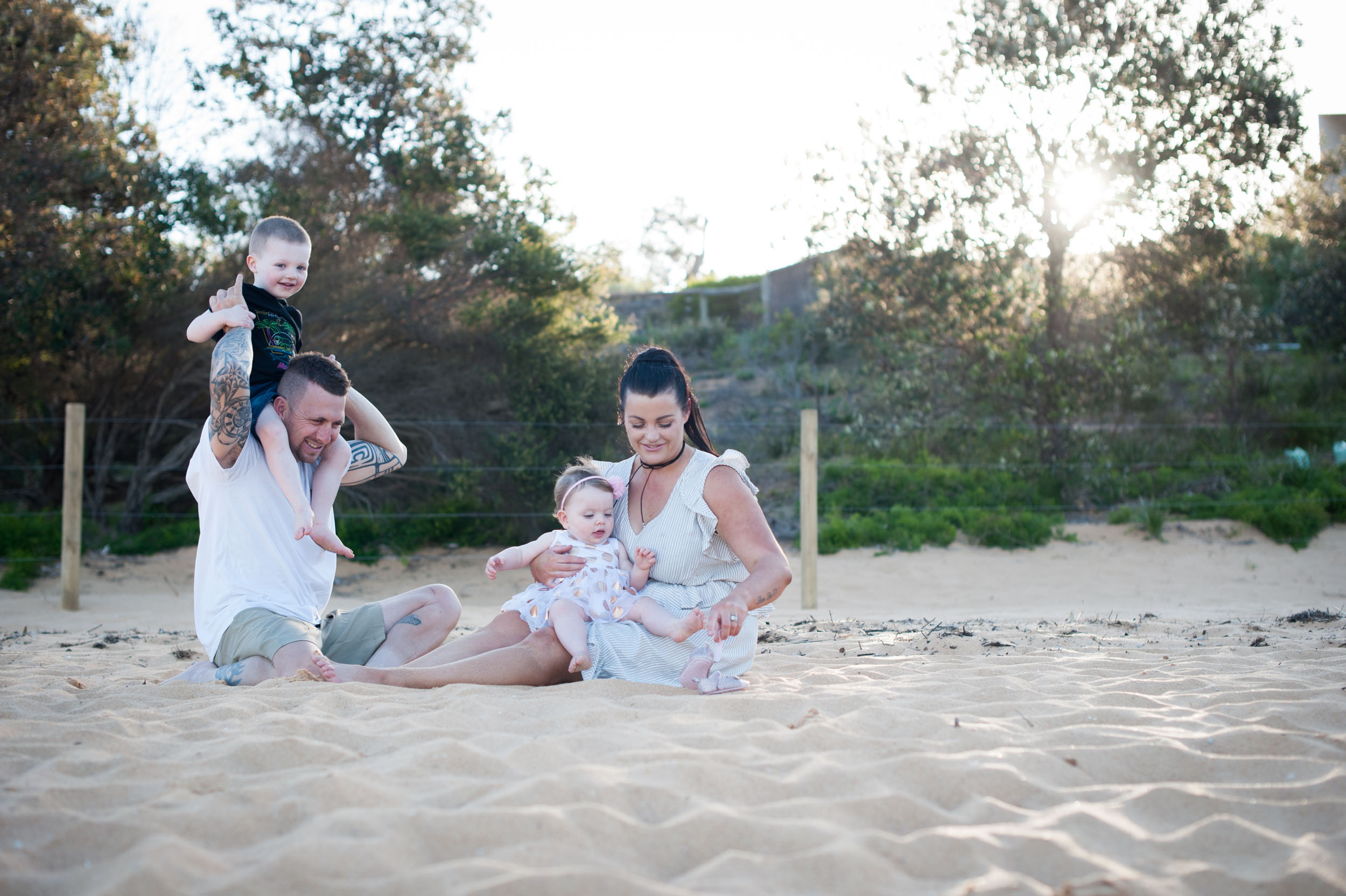 family beach photographer macmasters beach