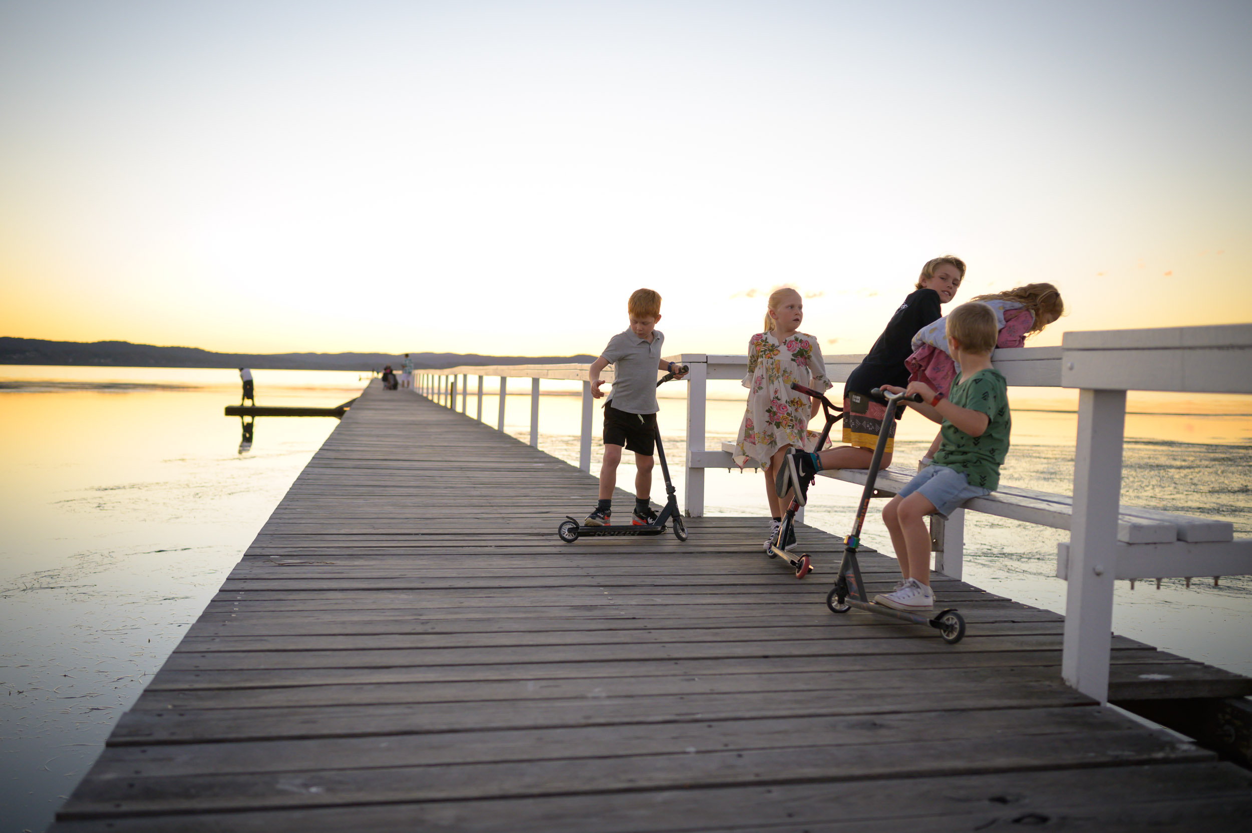 kids playing at long jetty