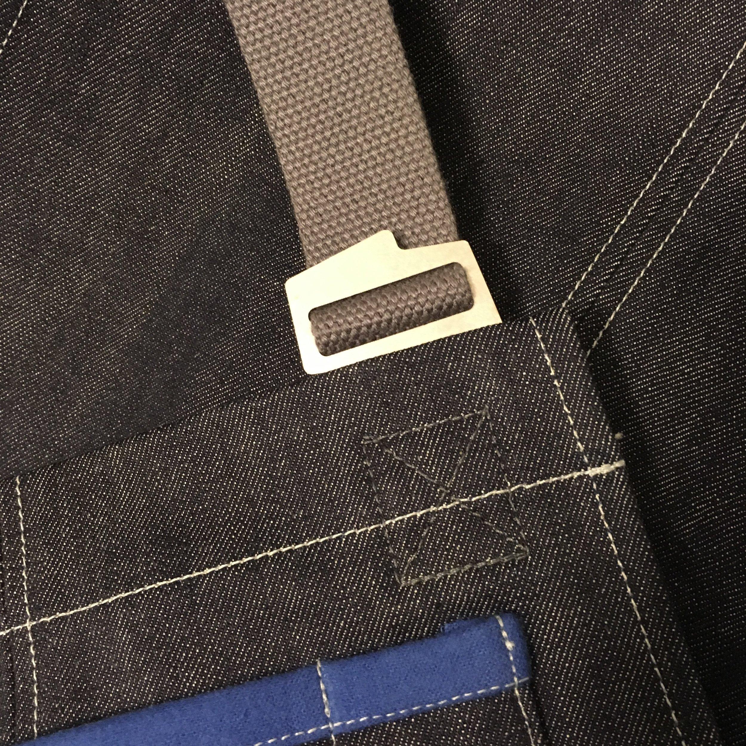 American Denim Apron - stainless hardware