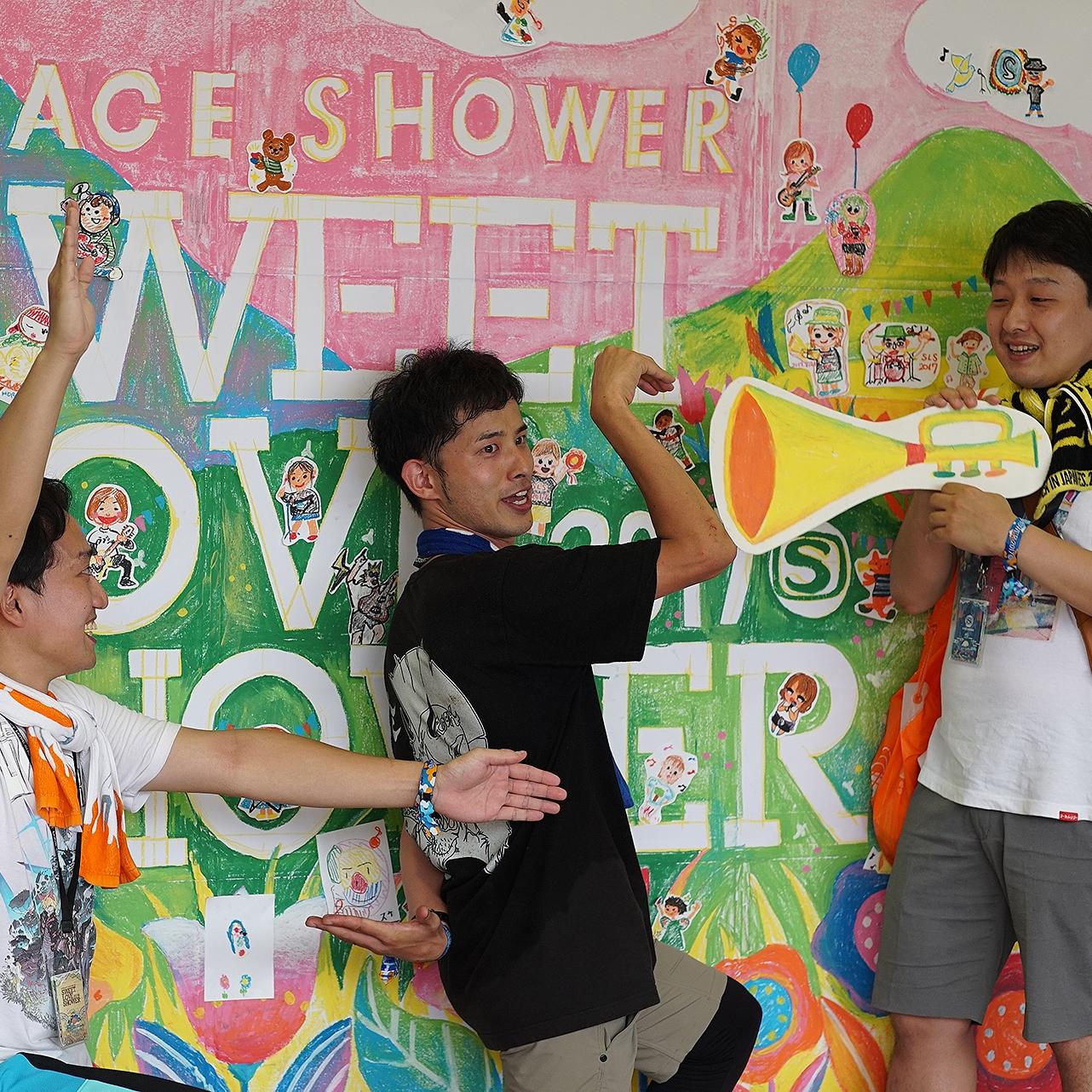 山梨・Sweet Love Shower(音楽フェス会場)にて   似顔絵ワークショップ *毎年開催