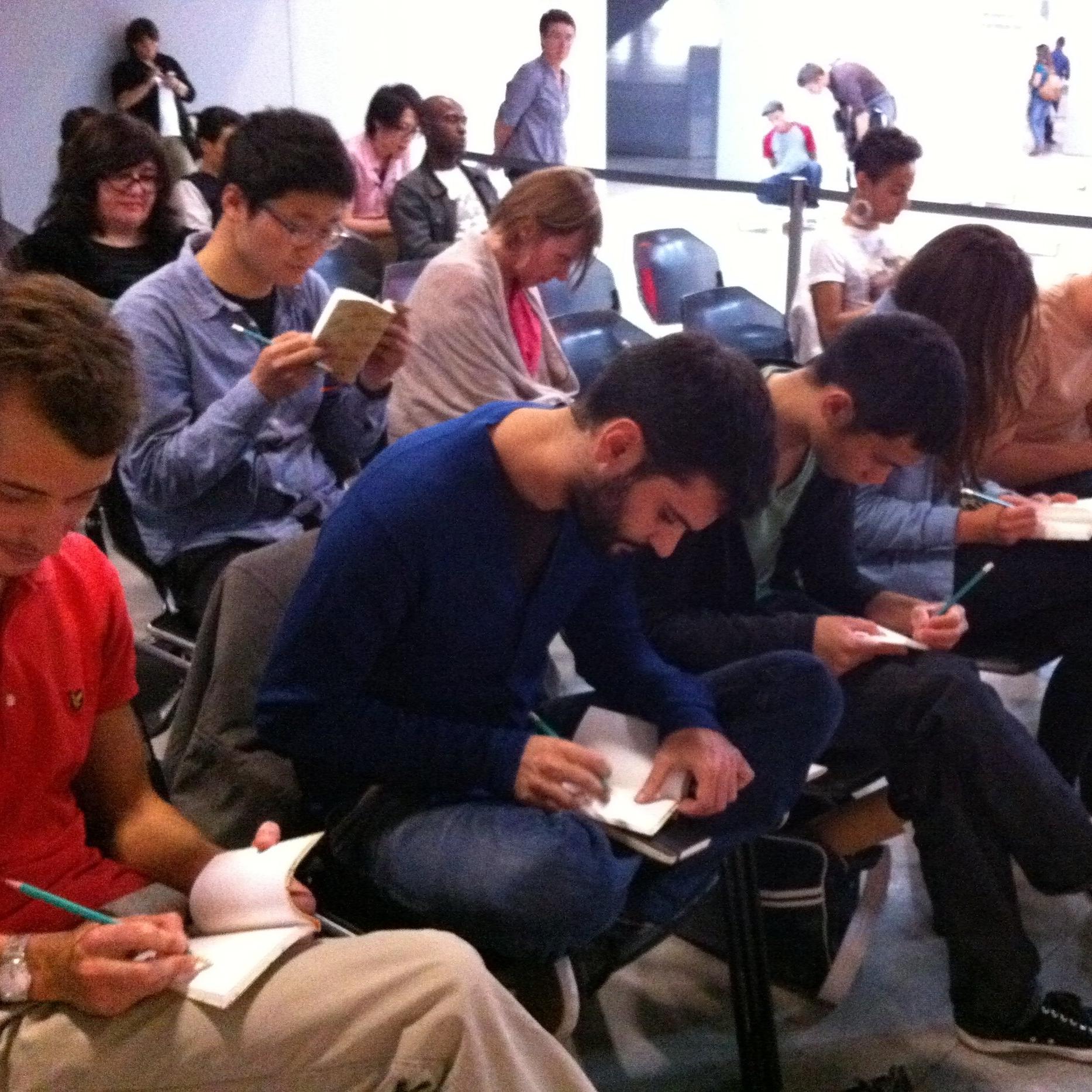 フランス・パリ ポンピドゥーセンターにて   パラパラアニメーション制作ワークショップ