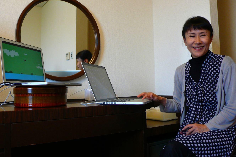 ご自宅から声を届けてくださった大貫妙子さん  Taeko Onuki sending her voice from her home