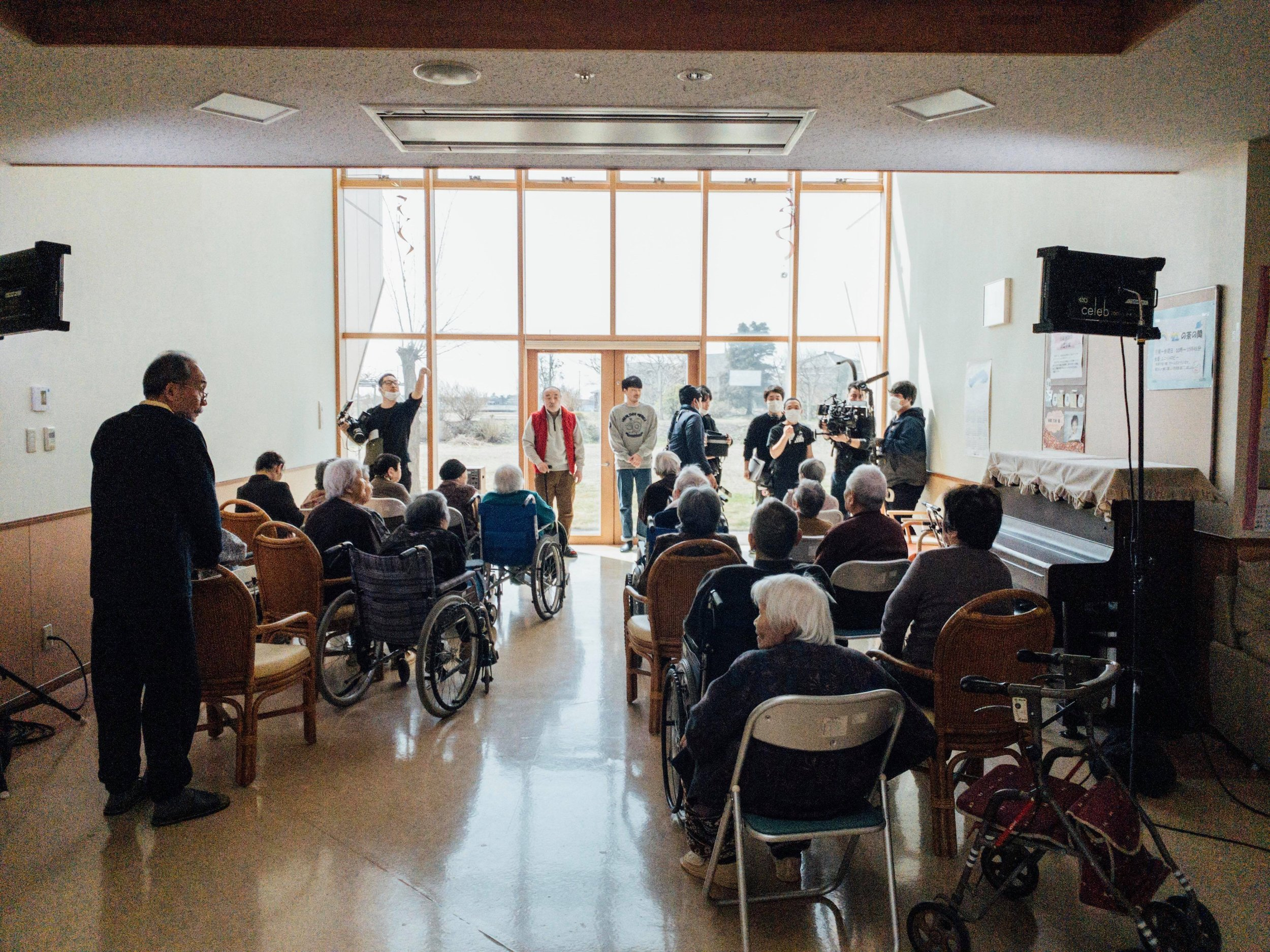 実際の新潟の介護施設が全面的に協力  Full support from the Niigata local nursing home facility