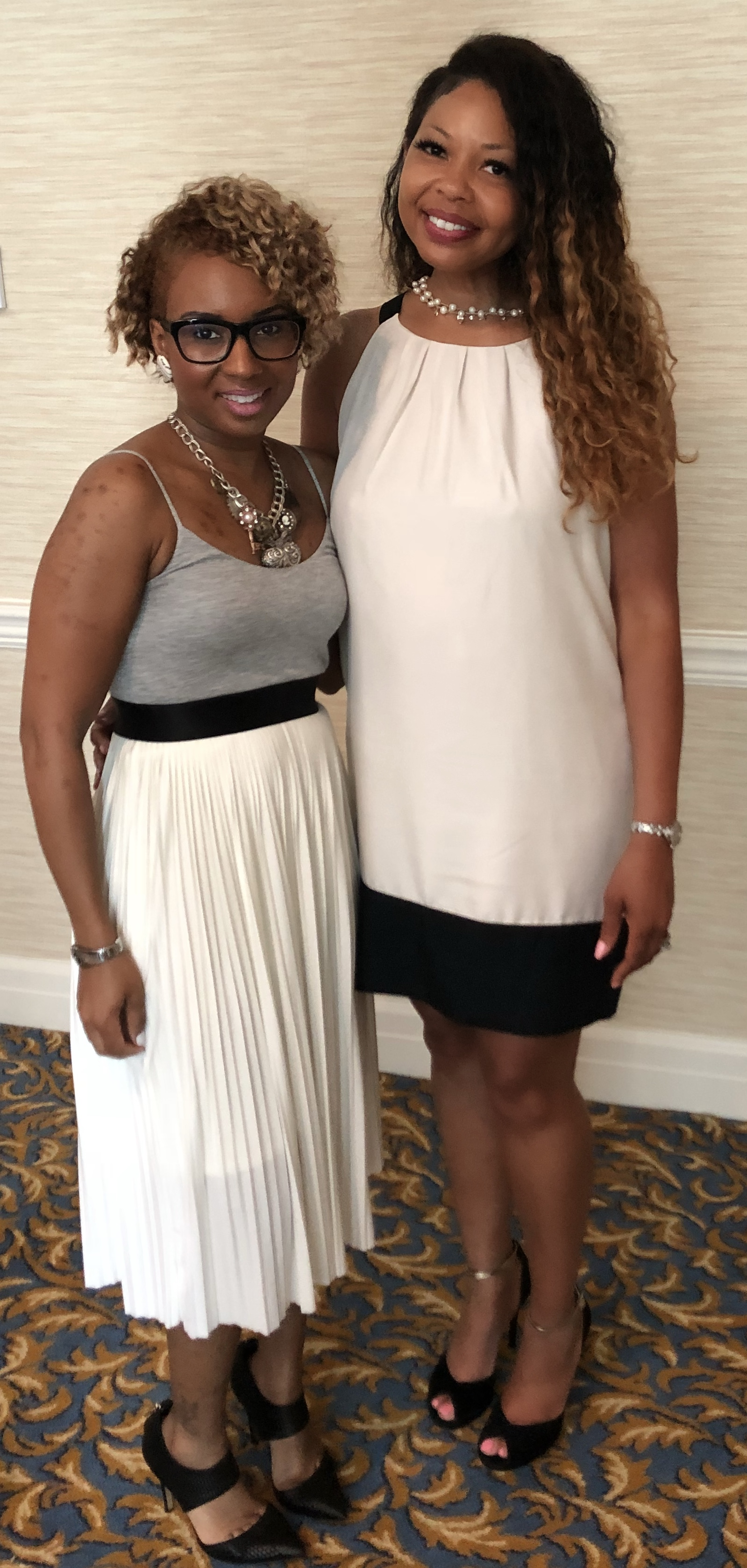 Great Maven's think alike! Latoria Polite pictured with A Maven's World CEO Anna Foster.