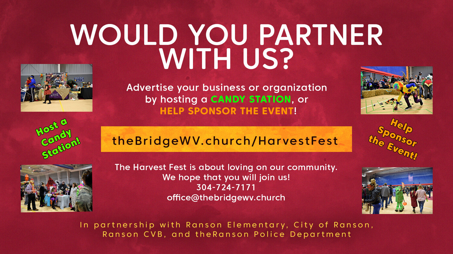 Click here to Learn More about partnering with the Harvest Fest