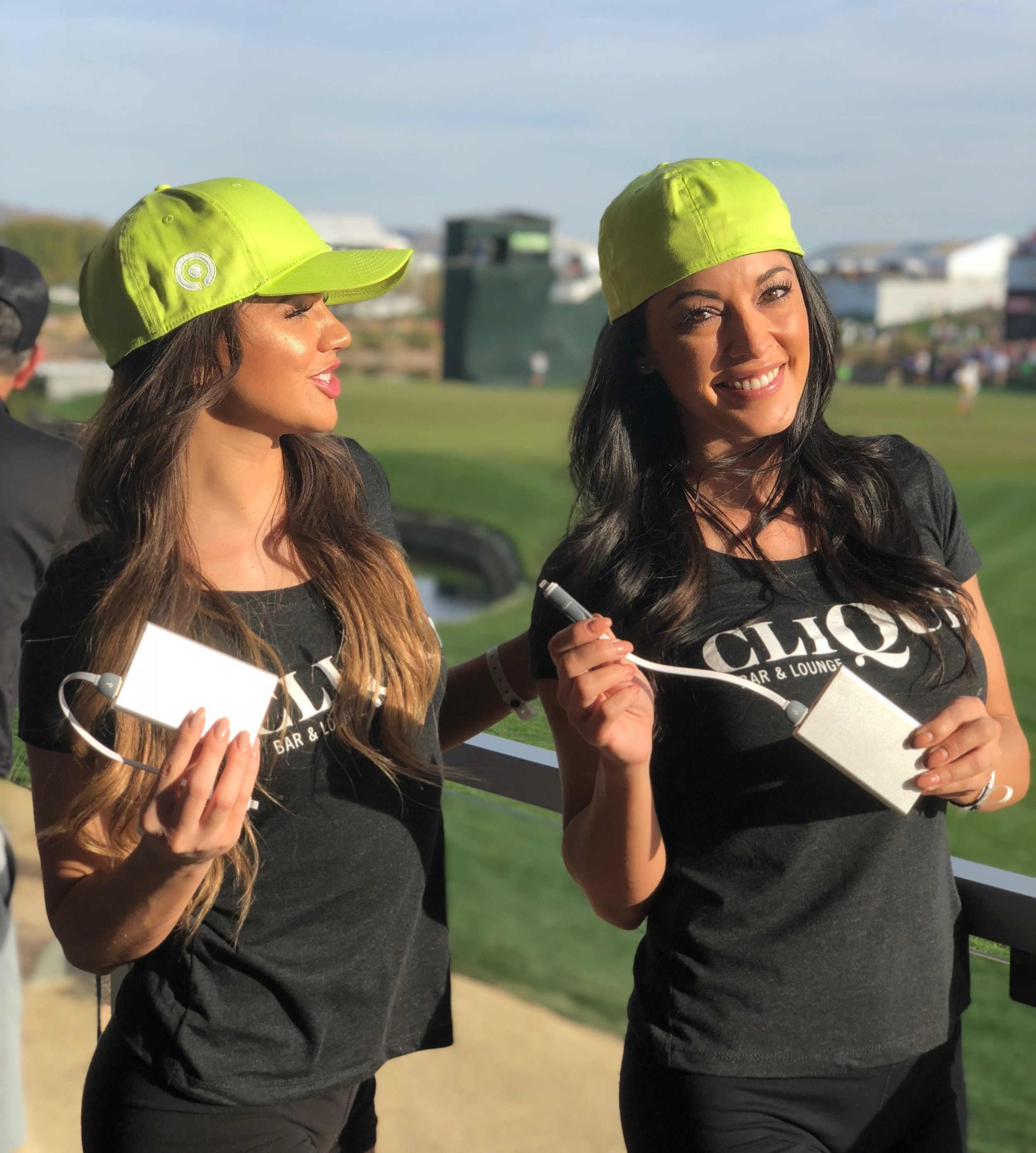 Look for our Juuice promotions team in the lime green hats.