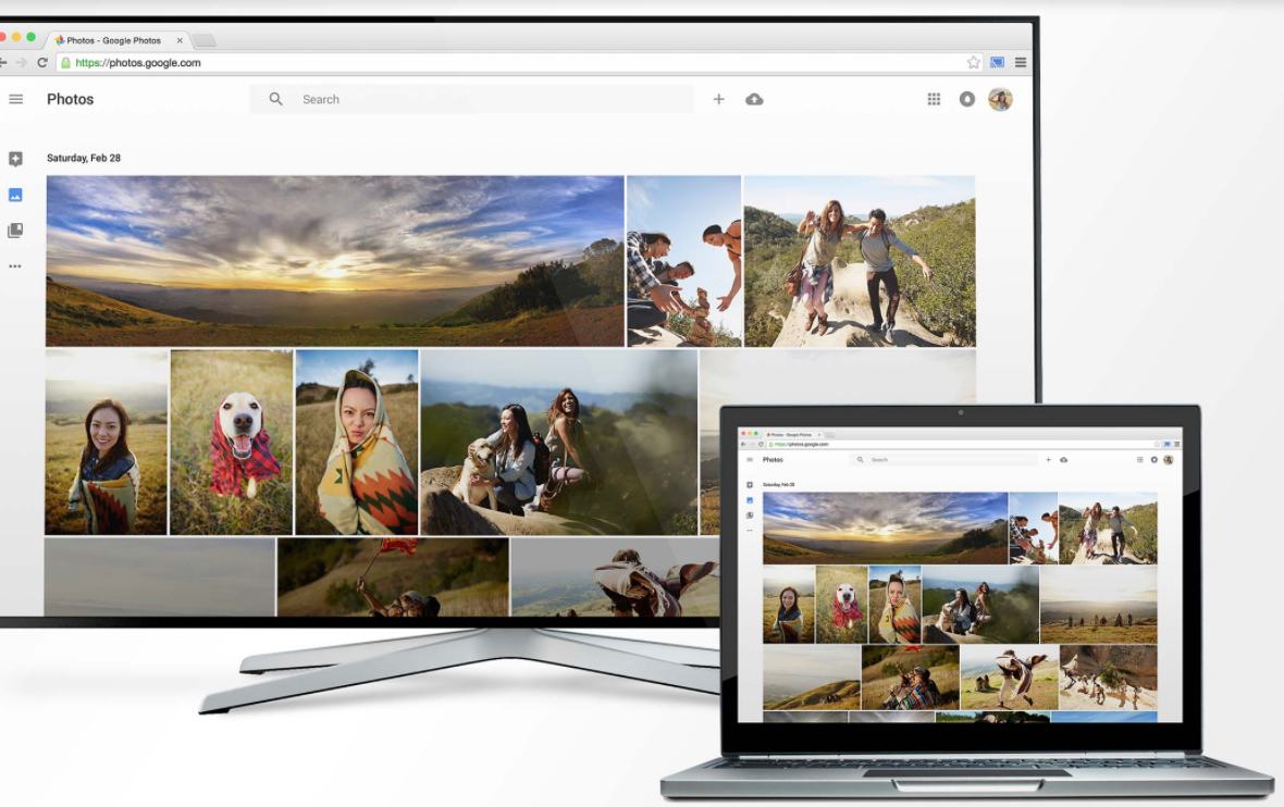 Use the cast button in Chrome to mirror browser content to Chromecast. Image source: Google.