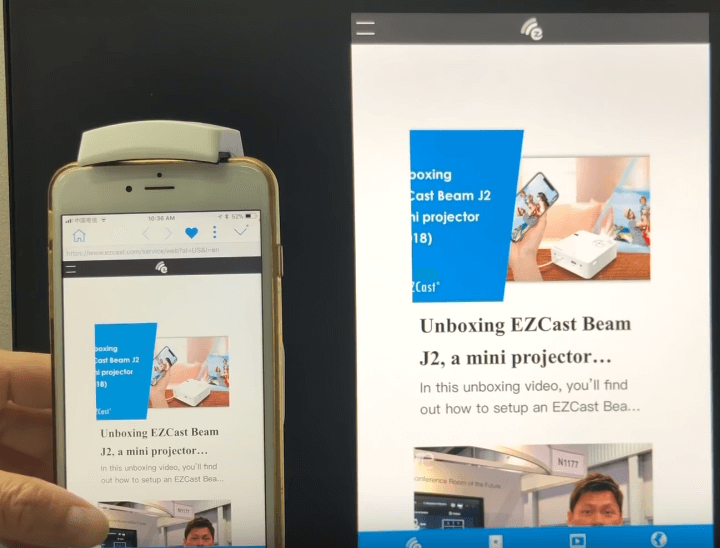 Combining both mobile browsing and big screen viewing experiences.