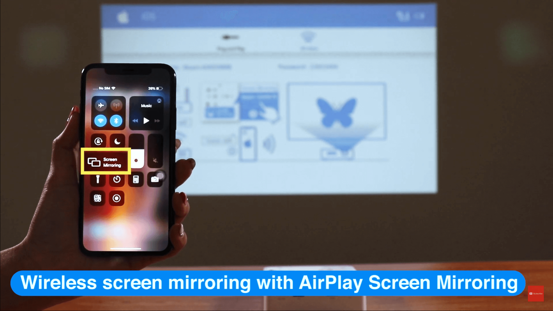 Especially supports AirPlay screen mirroring