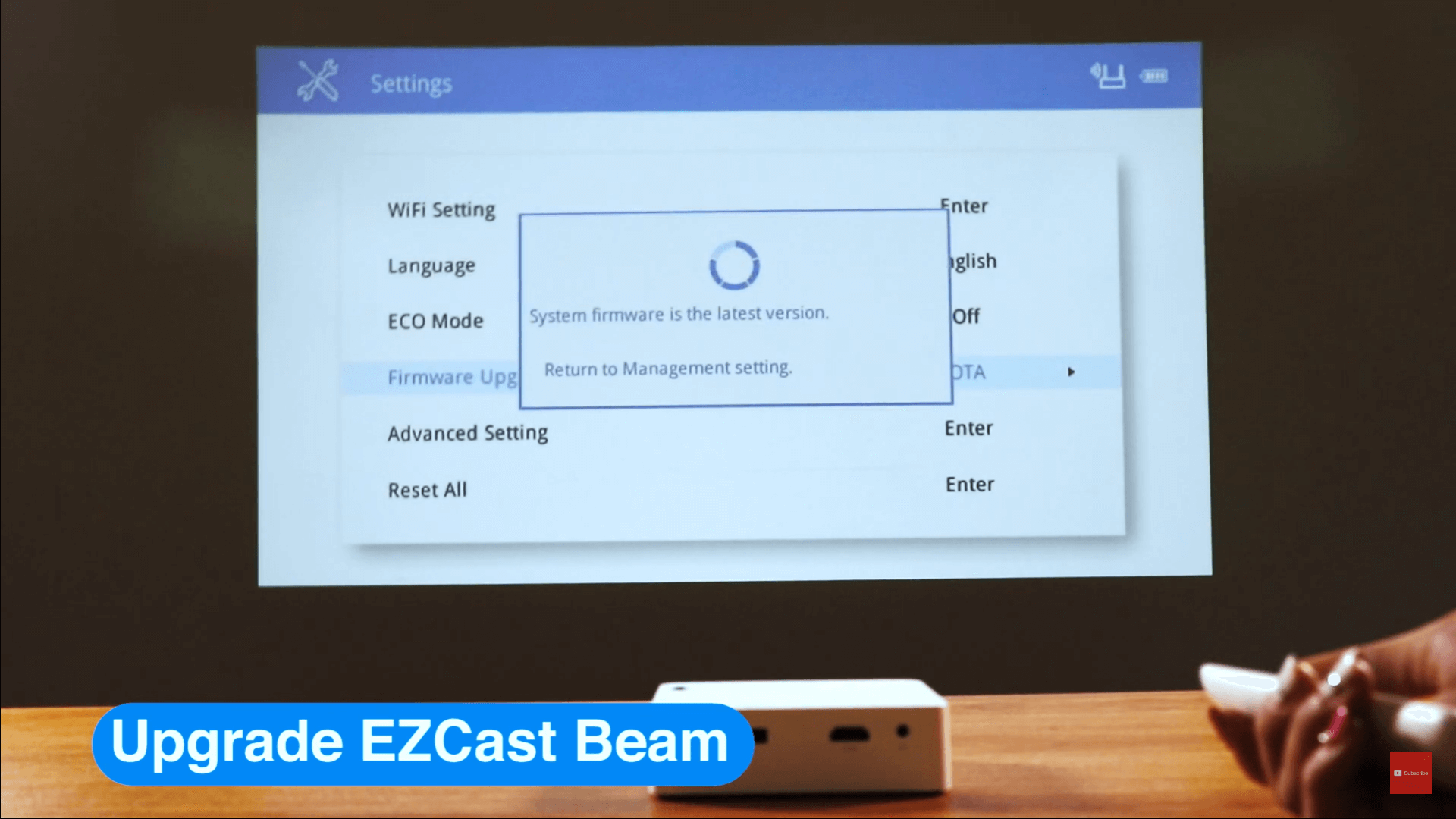 Upgrade your EZCast Beam J2 by yourself