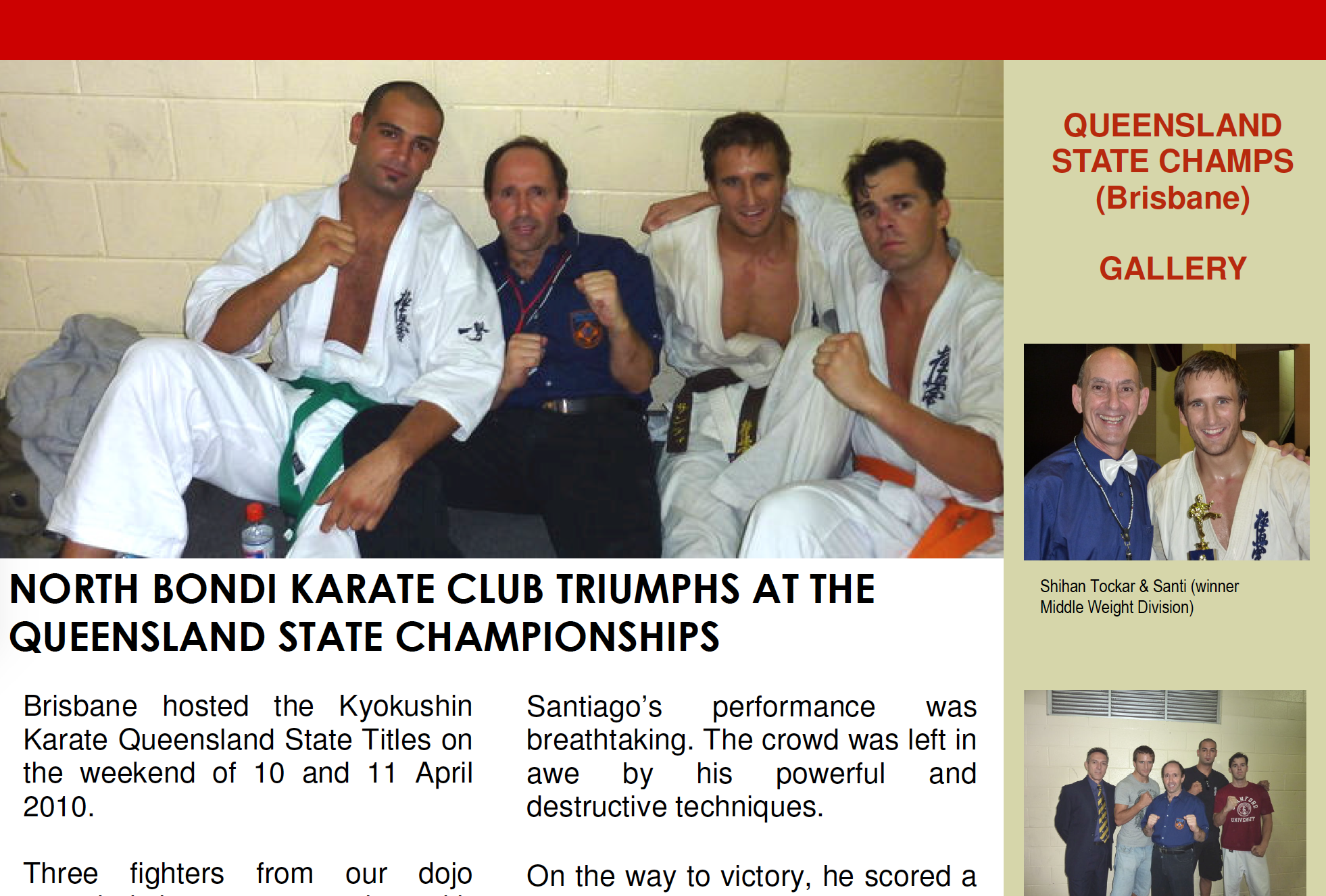 2010 QLD State Titles - Read shihan Tockar's tournament report for the 2010 QLD State Titles (Brisbane, Australia)
