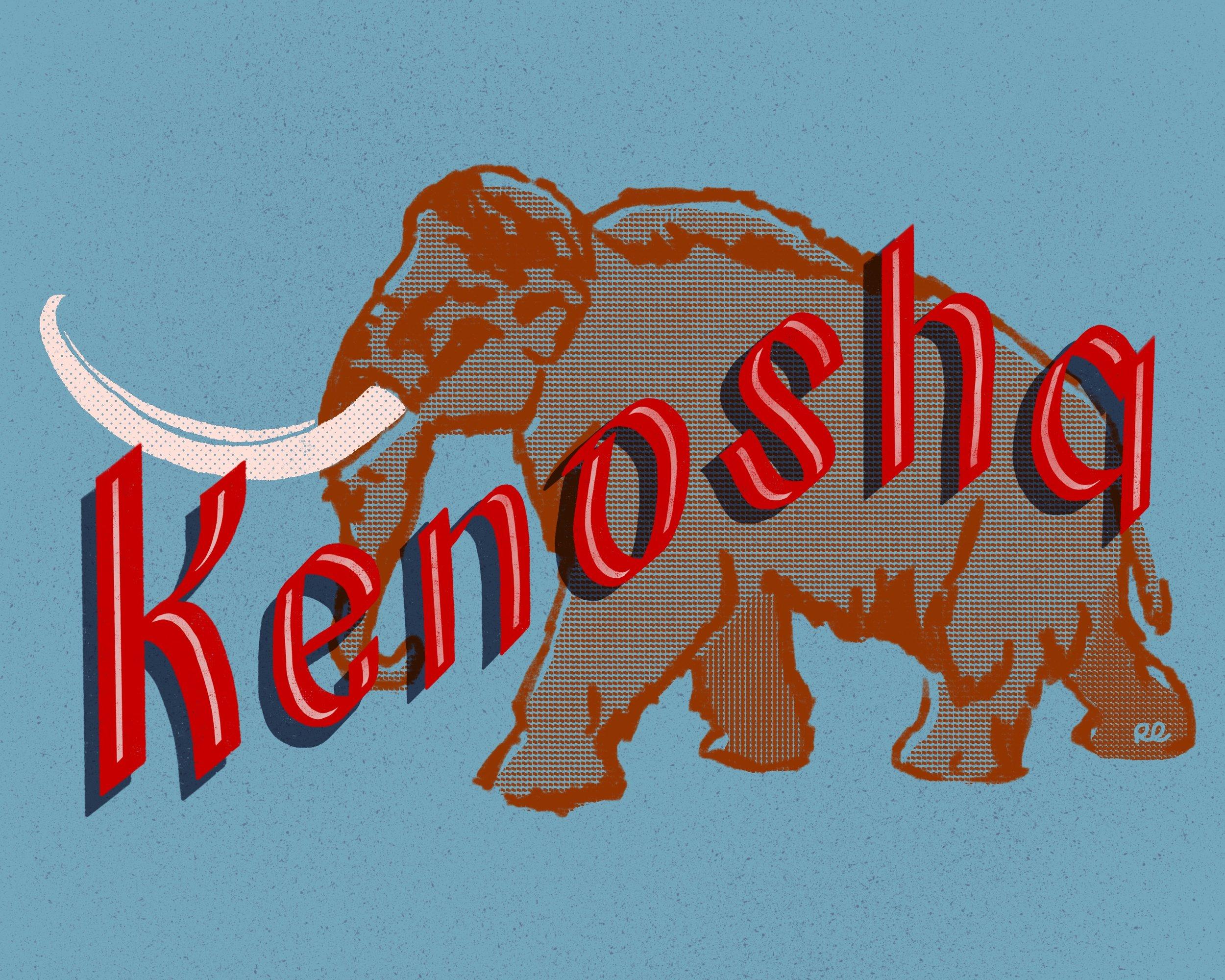 Kenosha, 2018 Hand Lettering Illustration, Procreate App