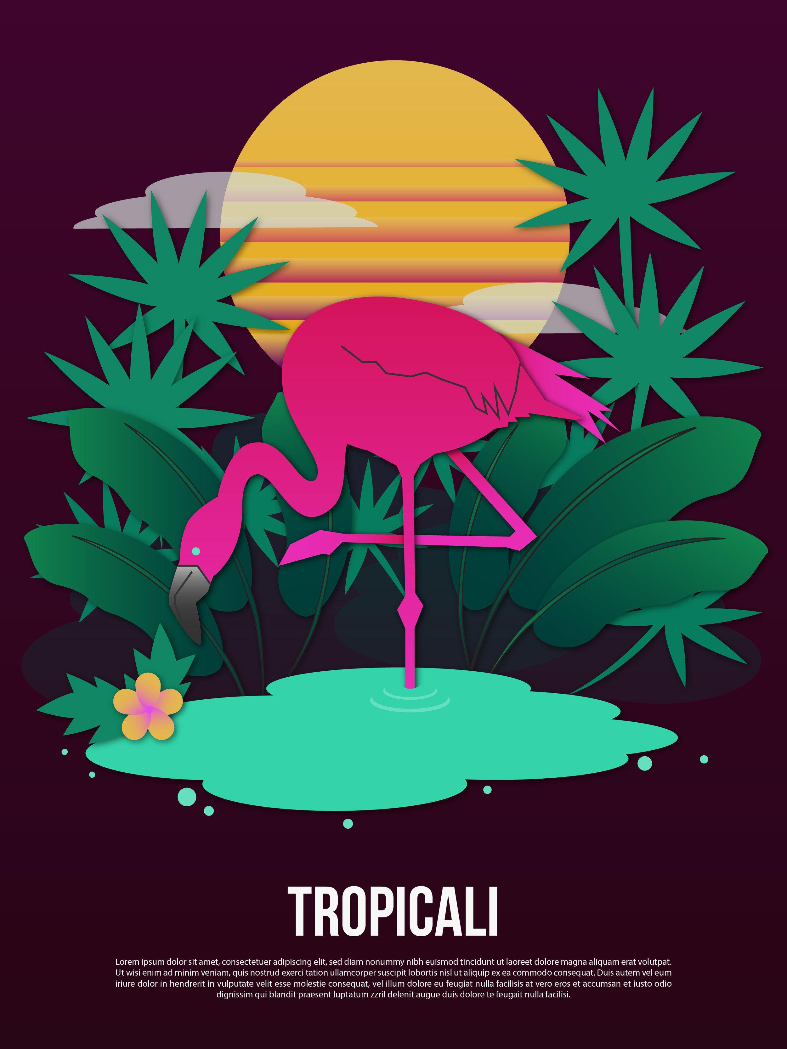 Tropicali Poster, 2018, Adobe Illustrator