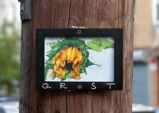 memento mori 10  oil on paper, framed and mounted | bushwick, brooklyn | 2014