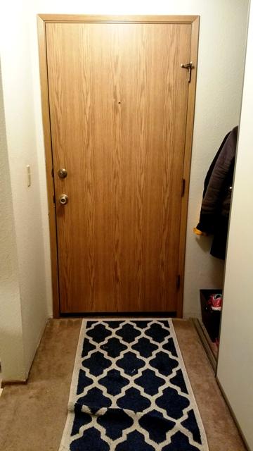 Doorway with long rug
