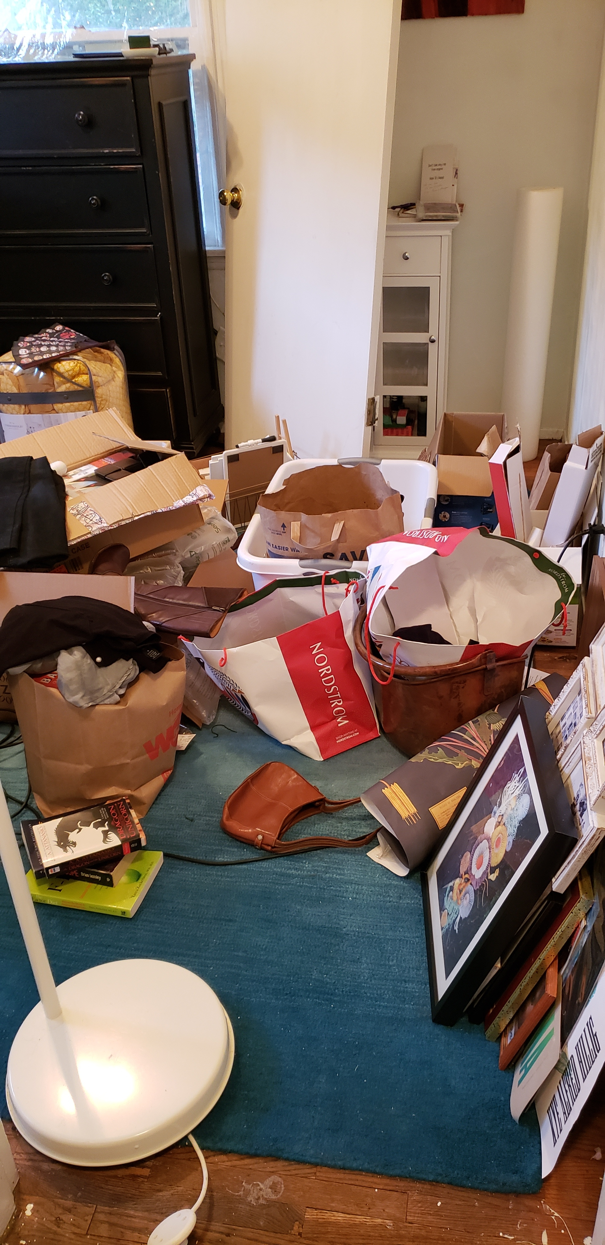 """Eeek! The """"sorting room"""" It gets smaller every day (Tidy by Habit)"""