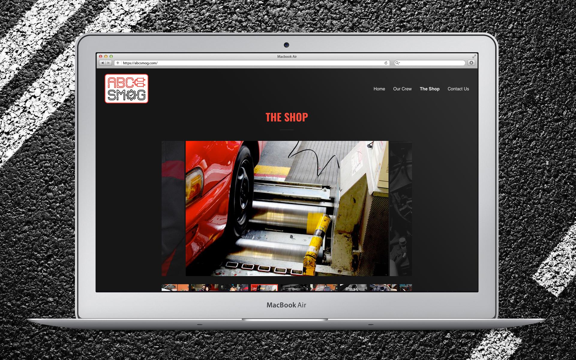 "ABC Smog Website ""The Shop"" Slideshow Page"