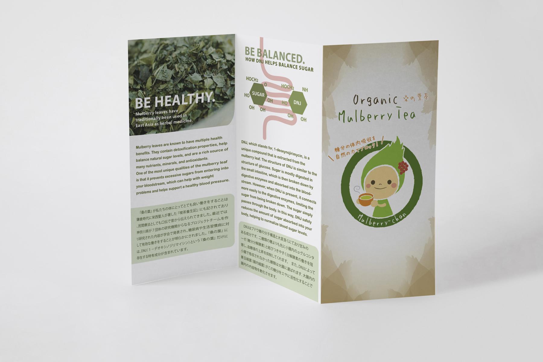 Organic Mulberry Tea®  Tri-Fold Brochure + Infographics