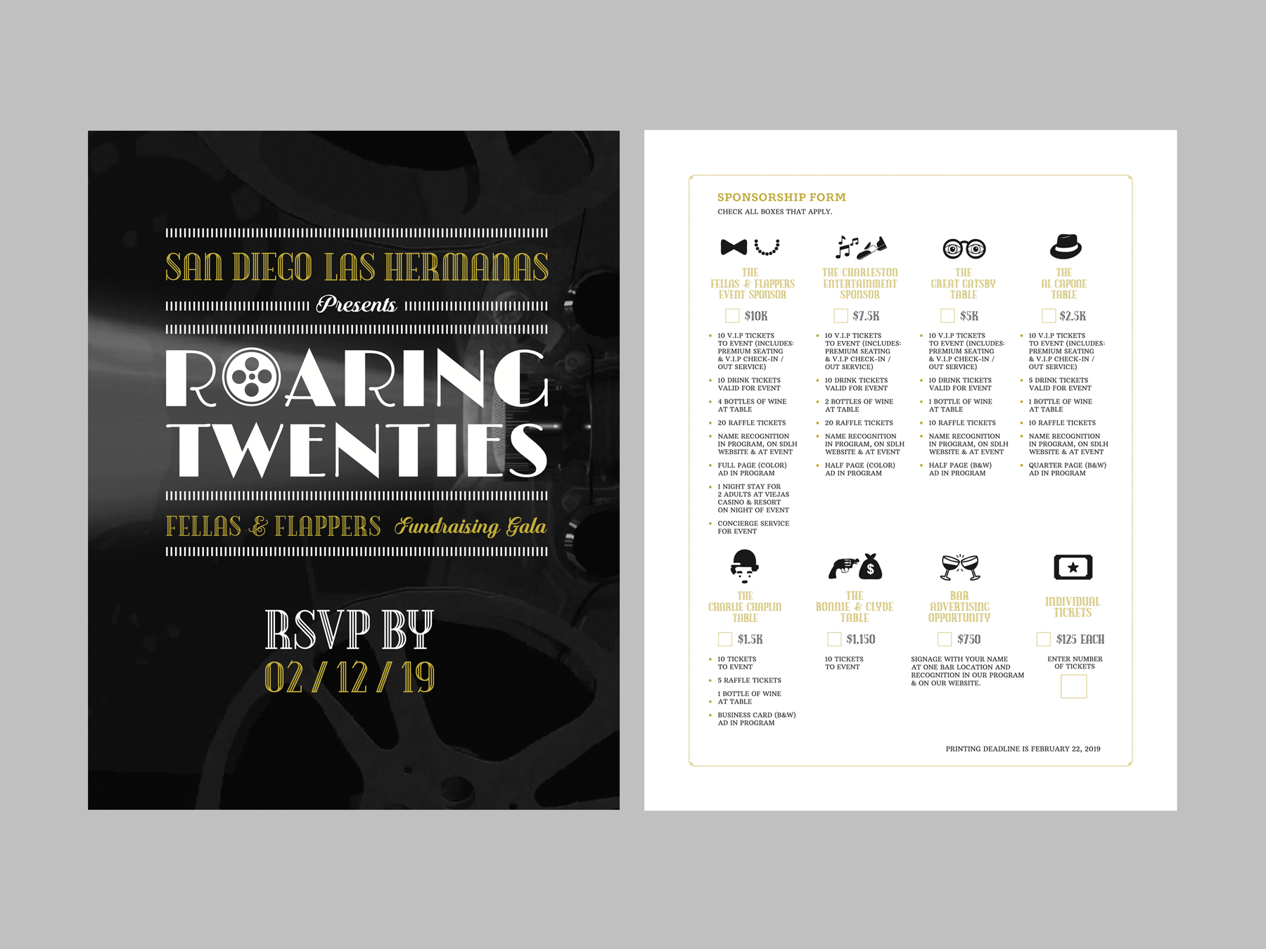 Roaring Twenties RSVP Double-Sided Cards