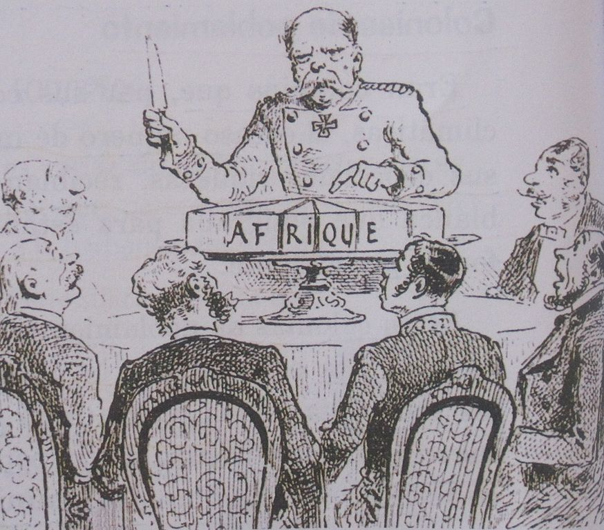A caricature of the Berlin Conference,1884 - 1885