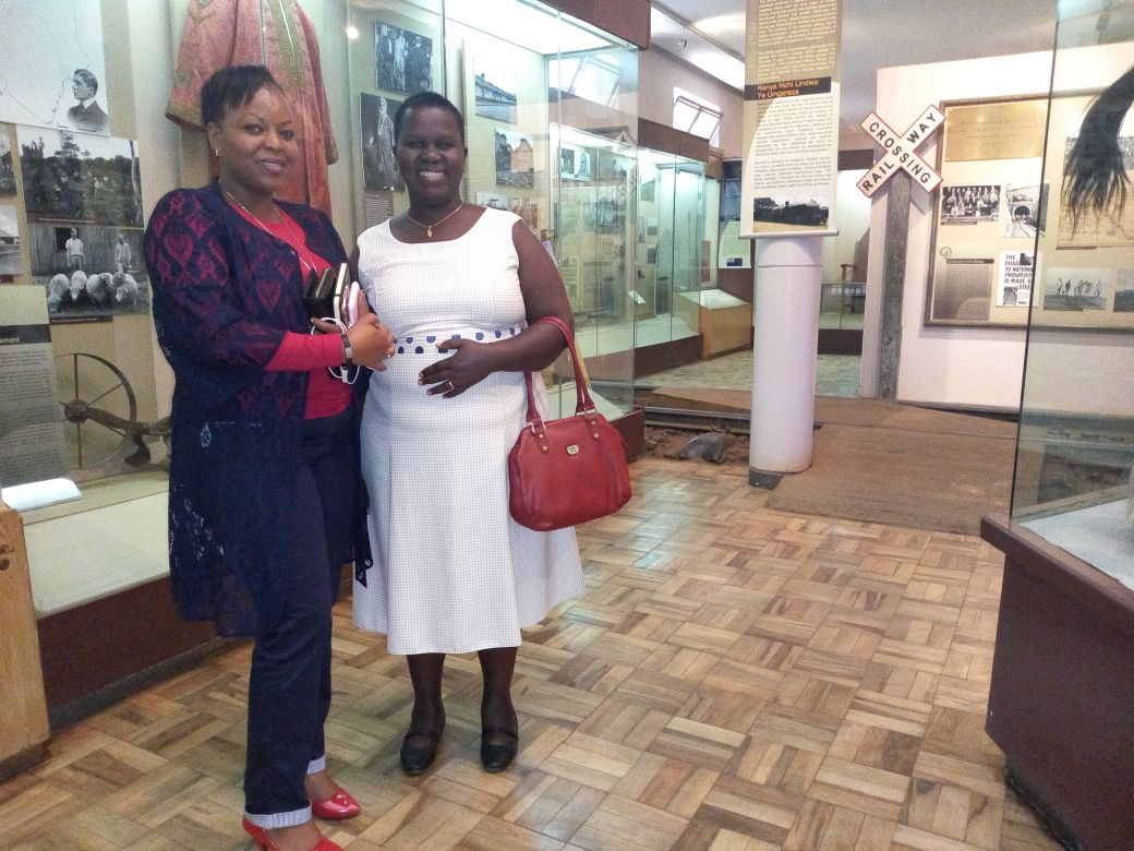 Susan and Mary visiting Nairobi National Museum.