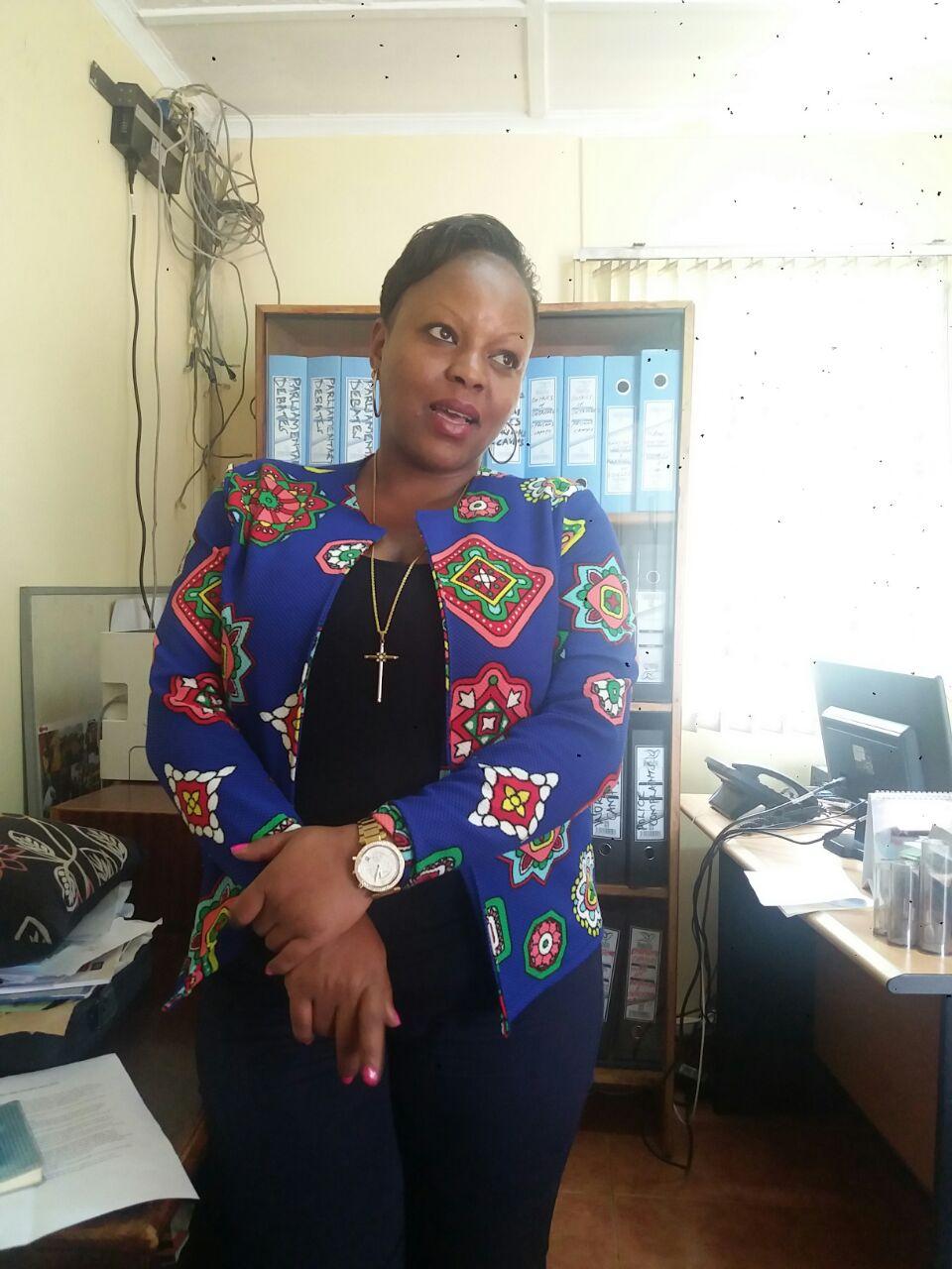 Susan at the Kenya Human Rights Commission