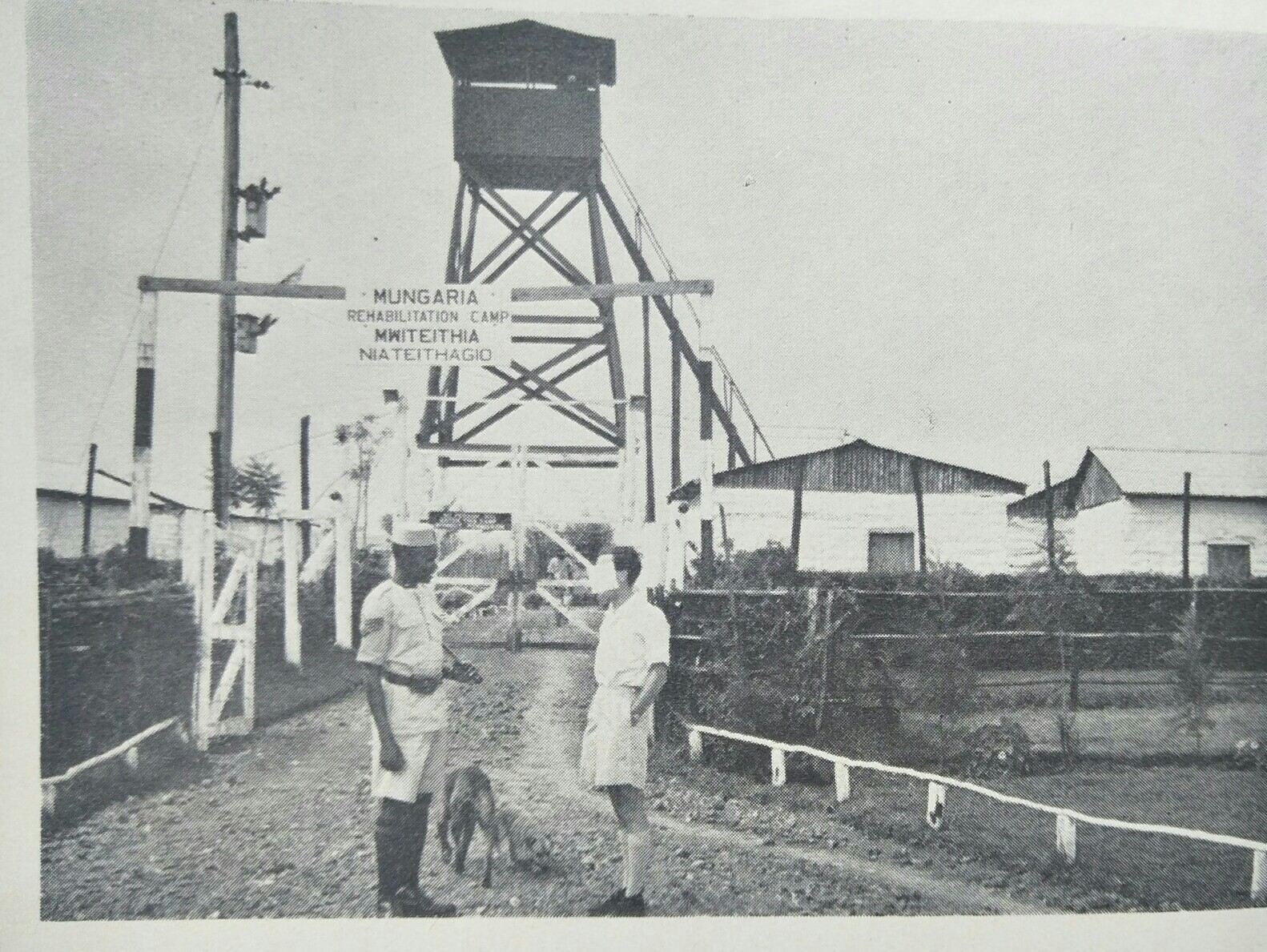 View of Aguthi (Mungaria) Work Camp, from J.M. Kariuki's 1963 book 'Mau Mau Detainee'.