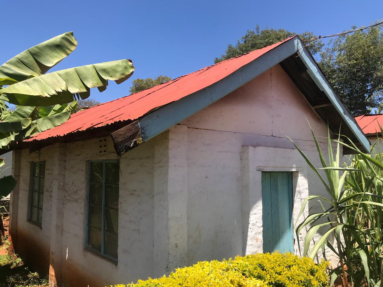 Former solitary confinement cell in Aguthi Works Camp, now Kangubiri Girls School. Windows were added by the school after independence.
