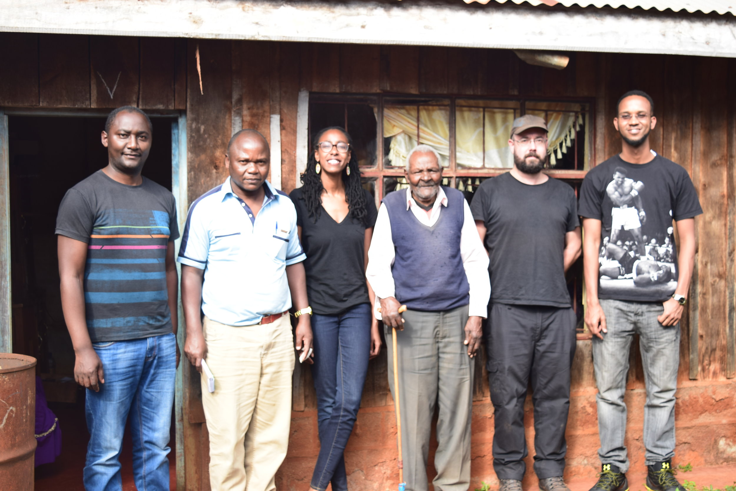 The team with Mr. Wambugu Nyigi in September 2018.
