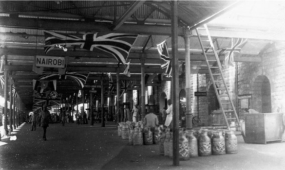 Nairobi Railway Station in 1946, during 50th anniversary celebrations of the Uganda Railway ( Photo source )