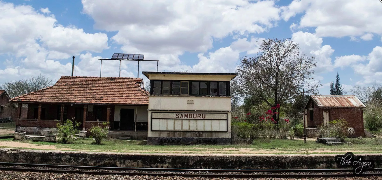 Samburu Railway Station, 2015. See more at  Save The Railway .