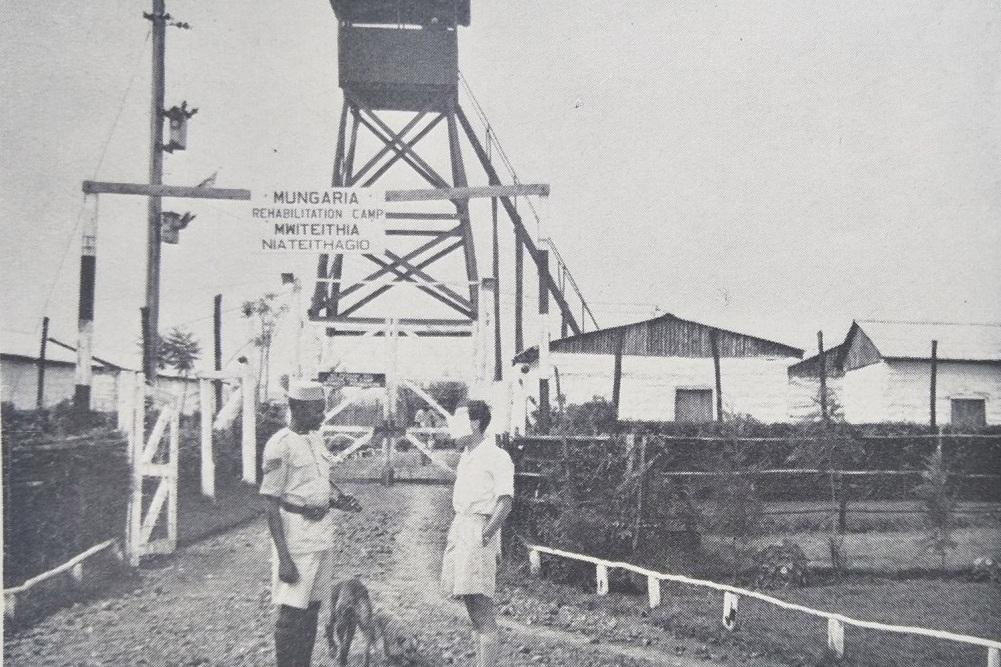 Figure 1: Aguthi Camp entrance - Taken from J.M Kariuki Mau Mau detainee, date unknown.